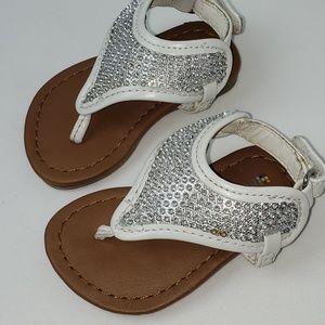 Size 2-BABY Healthtex Sparkle Sandels